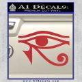 Eye of Horus Decal Sticker Rah Red 120x120