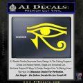 Eye of Horus Decal Sticker Rah Yellow Laptop 120x120