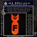 F Bomb Decal Sticker Orange Emblem 120x120