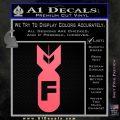 F Bomb Decal Sticker Pink Emblem 120x120