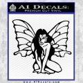 Fairy Girl Decal Sticker Black Vinyl 120x120