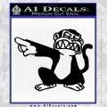 Family Guy Evil Monkey Decal Sticker Black Vinyl 120x120