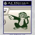 Family Guy Evil Monkey Decal Sticker Dark Green Vinyl 120x120