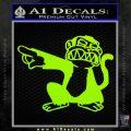 Family Guy Evil Monkey Decal Sticker Lime Green Vinyl 120x120