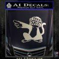 Family Guy Evil Monkey Decal Sticker Metallic Silver Emblem 120x120