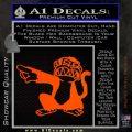 Family Guy Evil Monkey Decal Sticker Orange Emblem 120x120