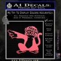 Family Guy Evil Monkey Decal Sticker Pink Emblem 120x120