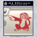 Family Guy Evil Monkey Decal Sticker Red 120x120