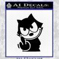 Felix The Cat The Finger Decal Sticker Black Vinyl 120x120