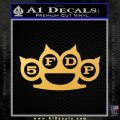 Five Finger Death Punch Decal Sticker 5FDP Gold Vinyl 120x120