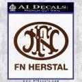 Fn Herstal Decal Sticker BROWN Vinyl 120x120
