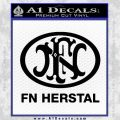 Fn Herstal Decal Sticker Black Vinyl 120x120