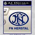 Fn Herstal Decal Sticker Blue Vinyl 120x120
