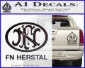 Fn Herstal Decal Sticker Carbon FIber Black Vinyl 120x97