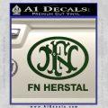 Fn Herstal Decal Sticker Dark Green Vinyl 120x120