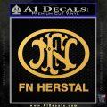 Fn Herstal Decal Sticker Gold Vinyl 120x120