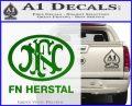 Fn Herstal Decal Sticker Green Vinyl Logo 120x97