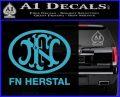 Fn Herstal Decal Sticker Light Blue Vinyl 120x97