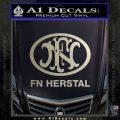 Fn Herstal Decal Sticker Metallic Silver Emblem 120x120