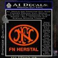 Fn Herstal Decal Sticker Orange Emblem 120x120