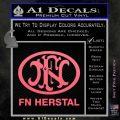 Fn Herstal Decal Sticker Pink Emblem 120x120