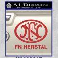 Fn Herstal Decal Sticker Red 120x120