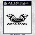 Ford Racing Decal Sticker Flags Black Vinyl 120x120