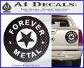 Forever Metal Rock Star Decal Sticker Carbon Fiber Black 120x97
