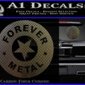 Forever Metal Rock Star Decal Sticker Carbon Fiber Chrome Logo 120x120