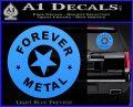 Forever Metal Rock Star Decal Sticker Light Blue Vinyl 120x97
