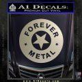 Forever Metal Rock Star Decal Sticker Silver Vinyl 120x120