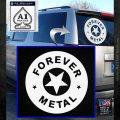 Forever Metal Rock Star Decal Sticker White Emblem 120x120