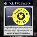 Forever Metal Rock Star Decal Sticker Yelllow Vinyl 120x120