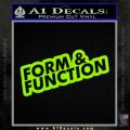 Form And Function JDM D1 Decal Sticker Lime Green Vinyl 120x120