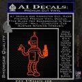 Futurama Bender Beer Cigar Decal Sticker Orange Emblem 120x120