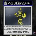 Futurama Bender Beer Cigar Decal Sticker Yellow Laptop 120x120