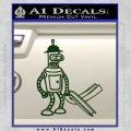 Futurama Bender Bending Girder Decal Sticker Dark Green Vinyl 120x120