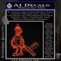 Futurama Bender Bending Girder Decal Sticker Orange Emblem 120x120