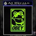 Futurama Hypnotoad Obey Decal Sticker Lime Green Vinyl 120x120