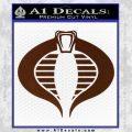 GI Joe Cobra Decal Sticker BROWN Vinyl 120x120