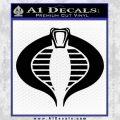 GI Joe Cobra Decal Sticker Black Vinyl 120x120