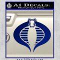 GI Joe Cobra Decal Sticker Blue Vinyl 120x120