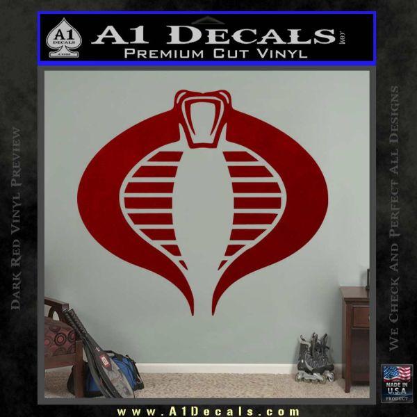 GI Joe Cobra Decal Sticker DRD Vinyl