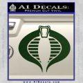 GI Joe Cobra Decal Sticker Dark Green Vinyl 120x120