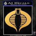 GI Joe Cobra Decal Sticker Gold Vinyl 120x120