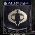 GI Joe Cobra Decal Sticker Metallic Silver Emblem 120x120