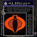 GI Joe Cobra Decal Sticker Orange Emblem 120x120