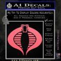 GI Joe Cobra Decal Sticker Pink Emblem 120x120