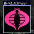 GI Joe Cobra Decal Sticker Pink Hot Vinyl 120x120