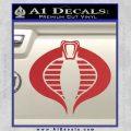 GI Joe Cobra Decal Sticker Red 120x120